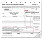 Straight Bills of Lading - Truck or Freight