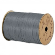 Matte Wraphia Charcoal Grey Ribbon