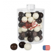 Holiday Gifts- Acrylic Jar with Chocolate Malt Balls