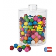 Acrylic Cylinder Jar with Gum Balls
