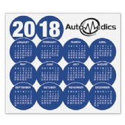 2018 magnetic calendar with logo
