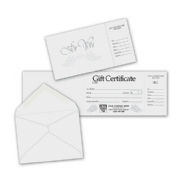 Custom Gift Certificates-Gray & Silver