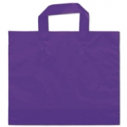 Purple Plastic Frosted Bags