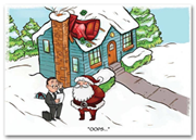 HML1517, Auto Insurance Holiday Cards - Fender Bender