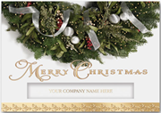 Glittering Wreath Christmas Card
