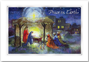 Traditional Religious Christmas Card