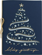 Celestial Tree Holiday Cards in Midnight Blue