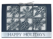 H14603, Silvery Snow Holiday Cards