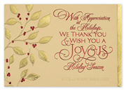 Thank you holiday cards thank you for your business holiday cards thank you holiday card gilded with joy colourmoves