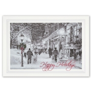 Traditional Window Shopping Holiday Cards