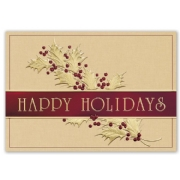 H15632, Graciously Gold Holiday Cards
