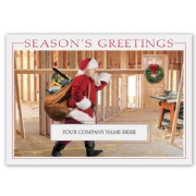 Santa's Workshop Builder & Contractor Card