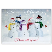 H15654, Snow Squad Holiday Cards
