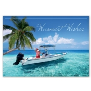 HP15309, Seaside Santa Holiday Cards