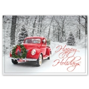 HP15322, Santa's Ride Holiday Cards