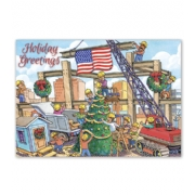 Holiday Contractor Card- Christmas Crane