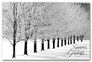 Personalized Holiday Postcards - Winter Scene