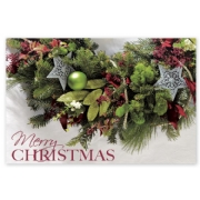 HPC5201, Merry Greenery Christmas Postcards