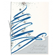 Star Bright Swirl Christmas Cards