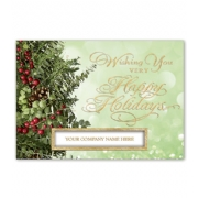 Holiday Christmas Cards- Berries and Boughs