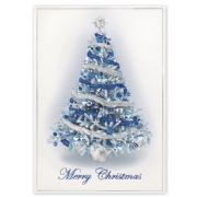 Holiday Christmas Card- Balsam Blue