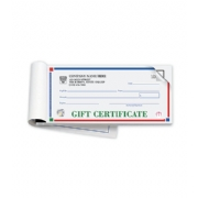 Gift Certificate Books- Primary Colors- High Security