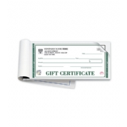 High Security Embassy Gift Certificate Books