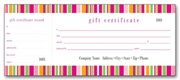 Retail Gift Certificate Books -Lilly Stripe