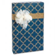 Casablanca Navy on Kraft Gift Wrap
