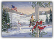 Animal Holiday Card - Countryside Cardinals