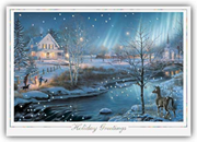 H56951, Winter Holiday Cards - Northern Lights