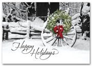 H58860, Wreath Holiday Cards - Welcoming Sight