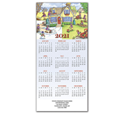 2021 holiday calendar cards with landscaping theme