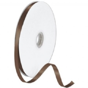 Double Faced Chocolate Satin Ribbon
