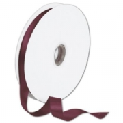 Double Faced Burgundy Satin Ribbon