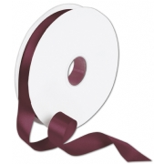 Double Faced Deep Burgundy Satin Ribbon