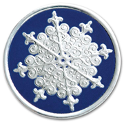 H8908S, Holiday Envelope Seals - Silver Snowflake