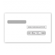 W-2 Tax Envelopes - Double-Window, 4-Up